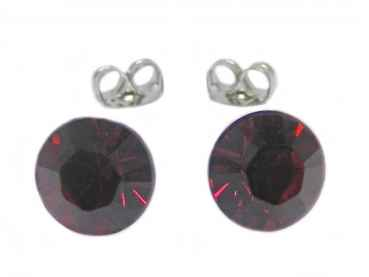 Ohrstecker 3 mm Ruby