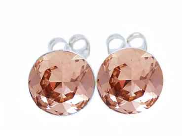 Ohrstecker 3 mm Rose Gold