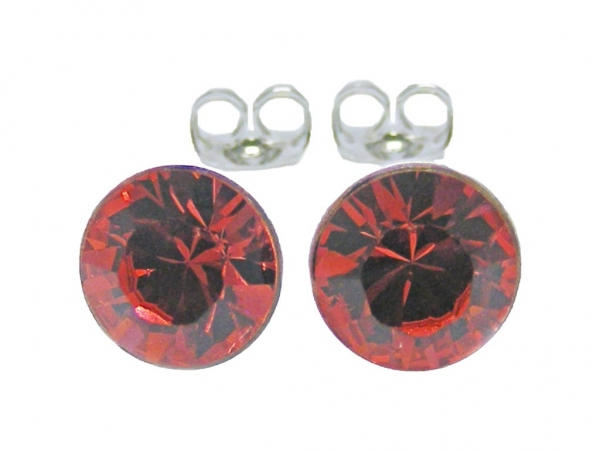 Ohrstecker 6 mm Padparadscha